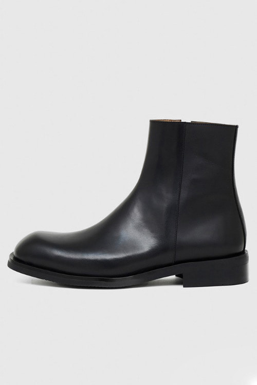 [SEASON SALE]스퀘어토 지퍼 부츠 R19M098 (블랙)Square Toe Zipper Boot (Black)