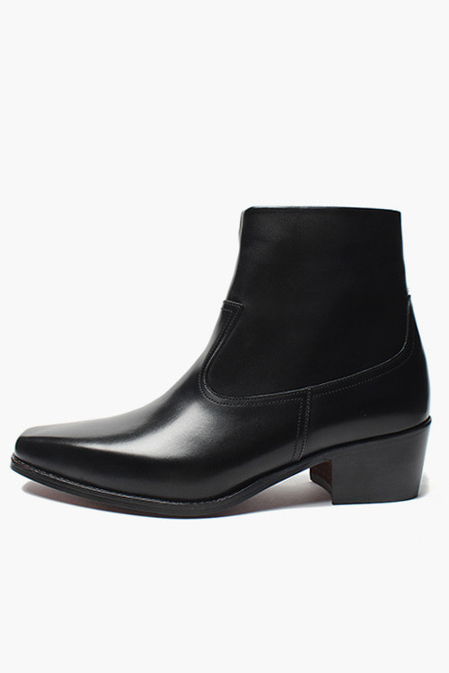 [SEASON SALE]웨스턴 지퍼 부츠 R18P091 (블랙)Western Zipper Boot (Black)
