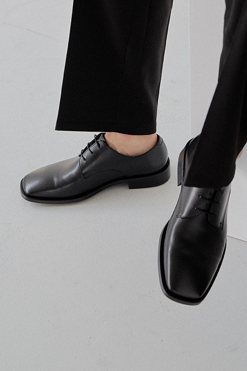 [New Arrival SALE]드레스덴 스퀘어토 더비 R20M103 (Black FG)  Dress Square Toe Loafer R20M103 (Black FG)